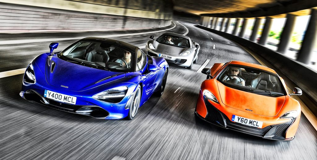 3 X McLaren in der City ...