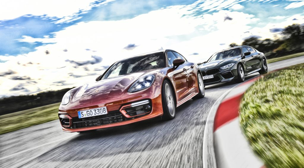 Porsche Panamera Turbo S  vs  BMW M8 competition